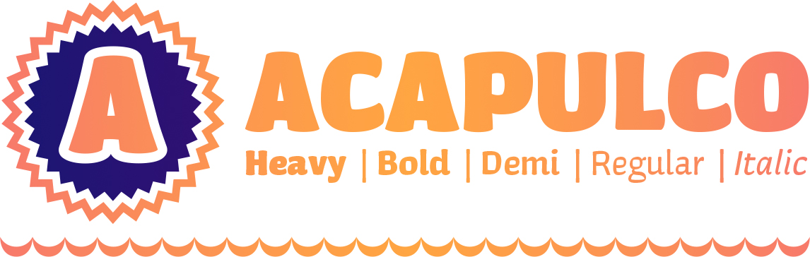 Acapulco Typeface—This Makes Me Happy
