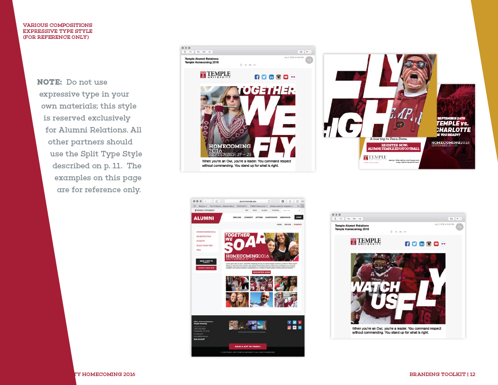 Temple Homecoming 2016—Brand Guide