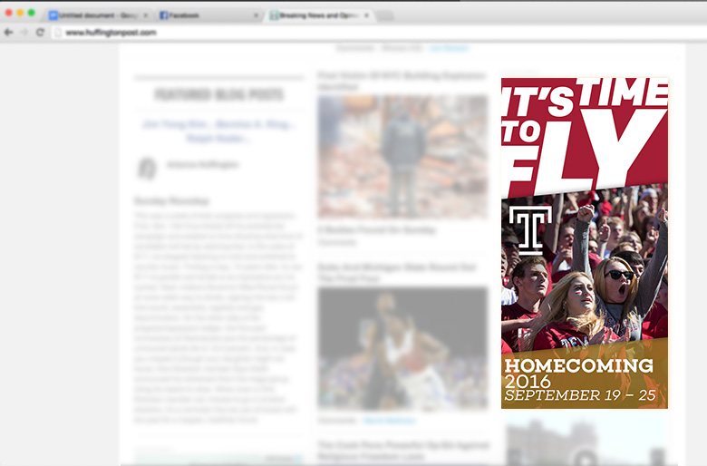 Temple Homecoming 2016—Web Ads