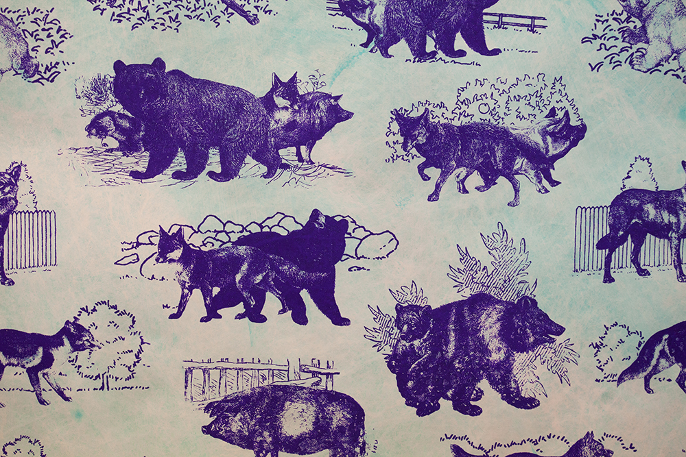 Gay, Jewish, or Both—Animal Toile Wallpaper